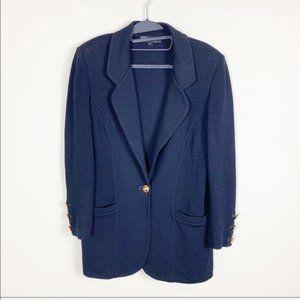 St. John black Santana knit jacket